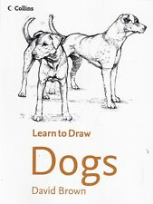 Learn to Draw Dogs by David Brown (Paperback) Book