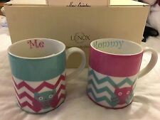 Lenox Mommy & Me Porcelain Coffee Cup 2 pc Mug Set Mother's Day Gift New
