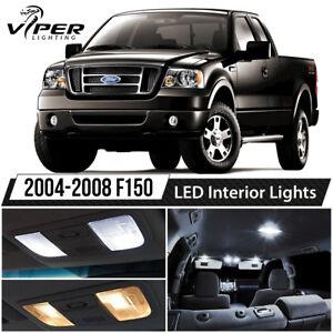 2004-2008 Ford F150 F-150 White Interior LED Lights Package Kit