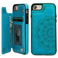 Fr iPhone 12 11 Pro Max Xr XS 8 7 Plus Case Flip Leather Wallet Card Stand Cover