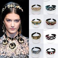 Baroque Ladies Headband Hairband Jewelled Banquet Hair Band Hoop Accessories