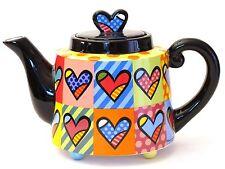 ROMERO BRITTO Teekanne Kaffeekanne *hearts* Herzen Teapot  20115A