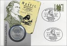 D-155 DDR-Numisbrief Friedrich von Schiller