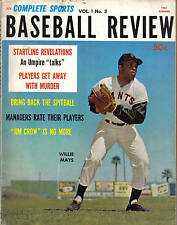 1961, Complete Sports Baseball Review ,magazine,Willie Mays,San Francisco Giants