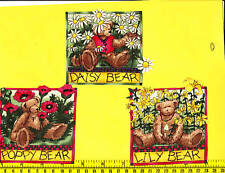 Teddy Bears Fabric Iron Ons Appliques flowers style#2