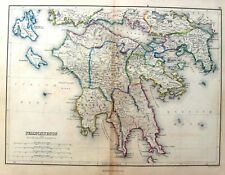 Butler's Ancient Atlas, H/Colored -1851- PELOPENNESUS
