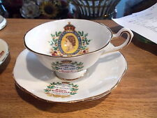 CORONATION CUP & SAUCER - Queen Elizabeth II June 2nd, 1953 by Rosina