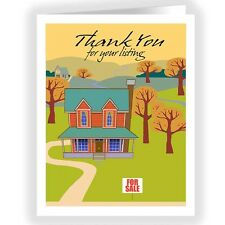 Real Estate Thank You Note Card - 18 Note Cards and Envelopes 14220