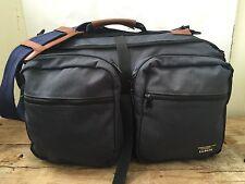 VTG LL Bean Conversion Navy Canvas Shoulder Back Pack Duffle Bag Internal Frame