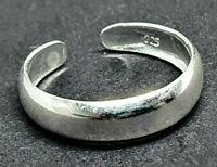 Toe Ring Simple Plain Band  925 Sterling Silver Adjustable Body Jewellery UK
