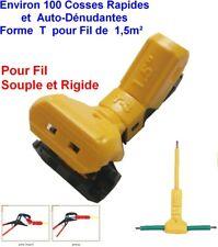 Fil de 1,5mm²,100 COSSES Borne Connexion Auto Dénudant,Connecteur,Connectors JOW