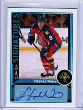 12/13 O-PEE-CHEE OPC STEPHEN WEISS OPC-SW SIGNATURES AUTO FLORIDA PANTHERS