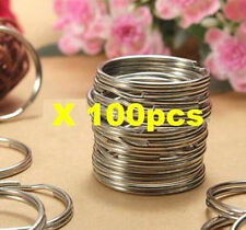 FD1262 Nickel Stainless Steel Split Ring Key Rings Keychain Silver 25mm *100pcs~