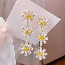 Pretty 925 Silver Drop Earrings for Women Citrine Jewelry A Pair/set