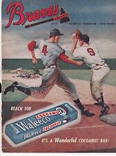 1950 Boston Braves vs. Pittsburgh Pirates Baseball Scorecard/Program
