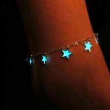 Luminous Glowing Stars Chain Barefoot Sandal Beach Anklet Bracelet Foot Jewelry