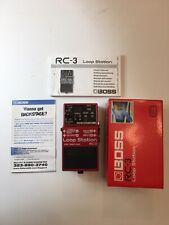 Boss Roland RC-3 Loop Station Phrase Recorder Sampler Guitar Effect Pedal + Box