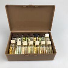 AVON Fragrance Demonstration Samples 14 MINIATURE PERFUME Cologne Bottles 1960's