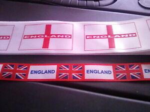 England ribbon - 2 metres - 2 designs