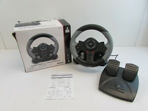 RACING/STEERING WHEEL 3 & FOOT PEDALS FOR PS3 BY HORI, USB CONNECTION     #NSDC#