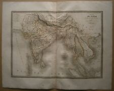 Lapie's map INDIA AND INDOCHINA, Atlas Universel, Paris, 1829.