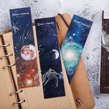 30pcs/lot Roaming space Paper bookmarks stationery book holder message card NA
