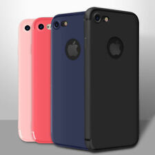 Ultra Plano Delgado Silicona Mate Suave Tpu Funda Cartera para iPhone 6 6s 7