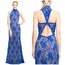 NWT $468 Tadashi Shoji Velvet Floral Lace Gown 0