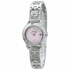Seiko SXDC71 P1 Silver/Light Pink Dial Stainless Steel Women's Analog Watch
