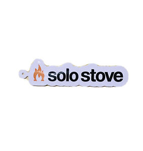 Solo Stove Decal Sticker Spell Out Logo 5.5 Inch Hanger Loop