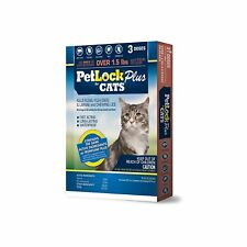 PETLOCK PLUS FLEA TICK LICE CAT 3PK DROPS CAT & KITTEN 1.5LB+. FREE SHIP TO USA