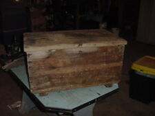 VINTAGE SHIPPING WOOD BOX CHEST 26x16x14 TRUNK CRATE MENS SANDALS RARE