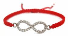 Kabbalah Red String Bracelet with Infinity Charm - Macrame Adjustable Luck