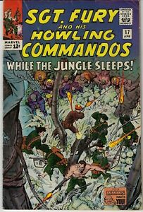 SGT FURY AND HIS HOWLING COMMANDOS # 17 MARVEL 1965