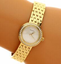"Tiffany & Co diamond 18K yellow gold ladies watch E-F VVS-VS 5 5/8"" 57 GM 20 MM"