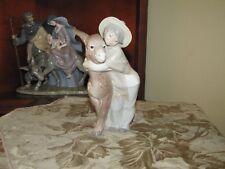 "Lladro Figurine ""Platero & Marcelino"" #1181-Boy w/ Donkey or Llama-Ret 1981-Mint"