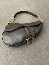 Authentic Christian Dior Leather Handbag Women's Saddlebag