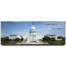 US Capitol panoramic fridge magnet Washington DC travel souvenir patriotic
