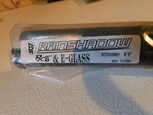 "'Rainshadow  RX6+E-GLASS  RDR86MH 8'6""  12-25 lb 2 pc. blank for rod building"