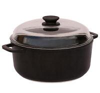 Casserole Pot with Aluminium Handles and Glass Lid 4 L 24 cm Non Stick BIOL