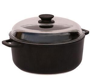 Casserole Pot with Aluminium Handles and Glass Lid 3 L 22 cm Non Stick BIOL