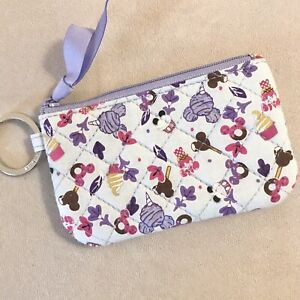 Vera Bradley Disney Zip ID Case Mickey's Sweet Treats
