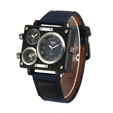 Fabric Canvas Band Wristwatches Watch OULM Men's Business Casual Analog Quartz
