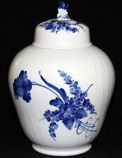 ROYAL COPENHAGEN - XXL Vase DECKELVASE 30cm - BLAUE BLUME - Curved - GESCHWEIFT