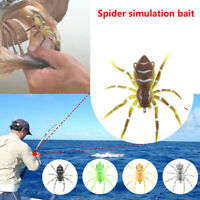 """3"""" 7g Phantom Spider Hollow Body Topwater Bait Soft Rubber Fishing Lure Tackle"""