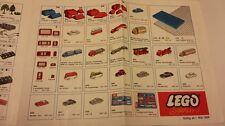 Lego 4 schöne Originalprospekte 60er und um 70er Jahre sehr gut erhalten!