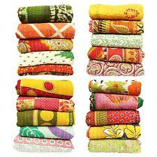 Decorative Quilt Reversible Blanket 5p Indian Bedding Bedspread Coverlet Blanket