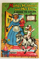 Mother Hubbard and Her Dog Vintage 1950's Coloring Book - A Big Little Book