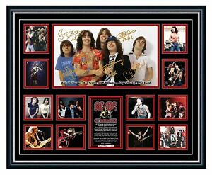 ACDC BON SCOTT ANGUS YOUNG SIGNED POSTER LIMITED EDITION FRAMED MEMORABILIA