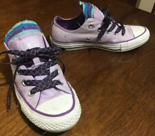 Convers All Star Lavender Canvas Low Top 5 Tongue Womans Size 6